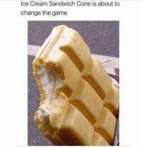 The Game, Game, and Ice Cream: Ice Cream Sandwich Cone is about to  change the game <p>NEED.</p>
