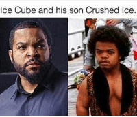 Ice Cube: Ice Cube and his son Crushed Ice.