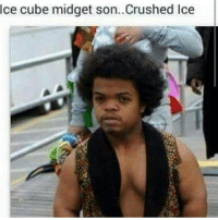 Ice Cube, Memes, and Tag Someone: Ice cube midget son..Crushed lce Crushed Ice Got A Mixtape?? 💀💀💀💀💀 Bruhhh 😂😂😂😭😭😭 ✅ Tag Someone👇👇