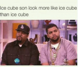Some of the Best of the Decade: Ice cube son look more like ice cube  than ice cube  View Some of the Best of the Decade