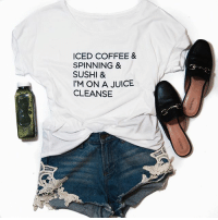 We know you'll love our new flowy tees because we have like EPSN or something. Shop them now before they're gone. LINK IN BIO. @shopbetches shopbetches: ICED COFFEE &  SPINNING &  SUSHI &  I'M ON A JUICE  CLEANSE We know you'll love our new flowy tees because we have like EPSN or something. Shop them now before they're gone. LINK IN BIO. @shopbetches shopbetches