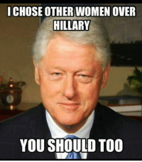 Women, Conservative, and Overeating: ICHOSE OTHER WOMEN OVER  HILLARY  YOU SHOULD TOO