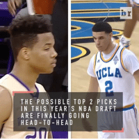 No. 11 UCLA takes on Washington tonight, but all eyes will be on the matchup between freshman guards, Lonzo Ball and Markelle Fultz: ICLA  THE POSSIBLE TO P 2 PICKS  IN THIS YEAR S NBA DRAFT  ARE FINALLY GOING  HEAD TO HEA D No. 11 UCLA takes on Washington tonight, but all eyes will be on the matchup between freshman guards, Lonzo Ball and Markelle Fultz