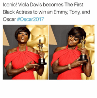 Memes, 🤖, and Oscar: Iconic! Viola Davis becomes The First  Black Actress to win an Emmy, Tony, and  Oscar  #Oscar 2017