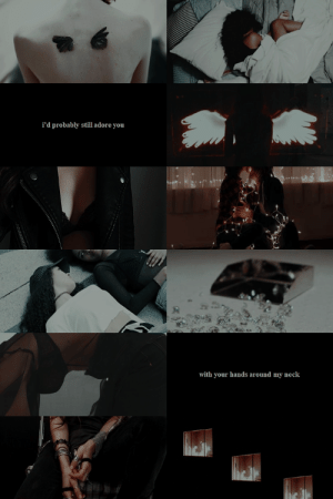 thewinedarksea:  f/f february: demons requested by anon : i'd probably still adore you   with your hands around my neck thewinedarksea:  f/f february: demons requested by anon