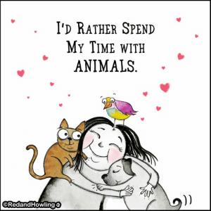 Animals, Memes, and Time: I'D RATHER SPEND  MY TIME wITH  ANIMALS  ""