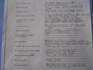 """karcrazy:  emikafett:  In health class today, we got a """"what should you say back to somebody who tries pressures you into sex"""" worksheet. This is what I wrote. And below, what it says, in case you're having trouble with the picture or reading my handwriting.""""Come on, just this once."""" - I'd rather have pizza and watch a movie. """"What could it hurt?"""" - You, if you keep pestering me. """"Everybody's doing it."""" - Too bad I'm not everybody.""""If you loved me, you'd let me."""" - If you loved me, you'd buy me Supernatural on Blu-Ray. Hand 'em over. """"I promise we'll use a condom every time."""" - *stares blankly until partner gets uncomfortable and leaves*""""No one has to know."""" - No one has to know if I murder you.""""What are you afraid of?"""" - Spiders, needles, wasps, clowns, heights, murderers…""""Don't you love me enough to have sex with me?"""" - No.""""You're just chicken."""" - *starts twitching wildly, making chicken noises, and flaps arms like wings*""""Don't you want to know what it's like?"""" - Not with you.""""Everyone knows you've done it before."""" - I'd think I'd remember something like that.""""Maybe you just don't like boys."""" - Yes, I'm a lesbian.""""Put out or get out."""" - Okay, bye. """"I'm clean, I promise."""" - Maybe you should take a bath, then, just to be sure.  DO YOU EVEN KNOW HOW FUCKING BRILLIANT THIS IS OH MY GOD : I'd sather hauepizzo and  watch amovie  Come on, just this once.  You if you Ikeco pestering  Mee  Too bad 'm not euerybadie.  What could it hurt?  Everybody's doing it.  loved  you  on Blo-Ray- tönd em arre  Istaros olankly unti Ipartner  me, you'd buy me""""Supernetural  If you loved me, you'd let me  I promise we'll use a condom  every time  act urconmfortdoc and leauest  No one ha toknow if Imurder  yoU.  No one has to know.  3piders, needleslwasps, clouns,  healts, murdeters...  What are you afraid of?  Don't you love me enough to  have sex with me.  tarts twitchng wildly moking  Cnckonnases.and flaps arm3 Newingsk  Not with you.  You're just chicken.  Don't you want to know what it"""
