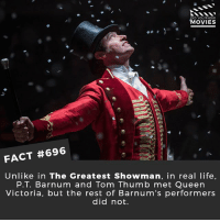 Do you think Hugh Jackman could play any role? He's so versatile! 🎥 • • • • Double Tap and Tag someone who needs to know this 👇 All credit to the respective film and producers. movie movies film tv cinema fact didyouknow moviefacts cinematography screenplay director movienight hollywood netflix didyouknowmovies academyawards wrestling hughjackman thegreatestshowman greatestshowman musical thisisme: ID YOU KNOW  MOVIES  FACT #696  Unlike in The Greatest Showman, in real life  P.T. Barnum and Tom Thumb met Queen  Victoria, but the rest of Barnum's performers  did not. Do you think Hugh Jackman could play any role? He's so versatile! 🎥 • • • • Double Tap and Tag someone who needs to know this 👇 All credit to the respective film and producers. movie movies film tv cinema fact didyouknow moviefacts cinematography screenplay director movienight hollywood netflix didyouknowmovies academyawards wrestling hughjackman thegreatestshowman greatestshowman musical thisisme