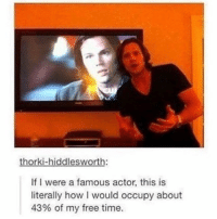 Same tbh 😂 - spn spncw spnfans spnfan spnfamily spnfandom supernatural supernaturalcw supernaturalfans supernaturalfan supernaturalfamily supernaturalfandom destiel destielforever j2 brothers winchester akf yana lyf jaredpadalecki littlebrother samwinchester moose jarpad teamfreewill j2m actor tumblr: iddl  If I were a famous actor, this is  literally how l would occupy about  43% of my free time. Same tbh 😂 - spn spncw spnfans spnfan spnfamily spnfandom supernatural supernaturalcw supernaturalfans supernaturalfan supernaturalfamily supernaturalfandom destiel destielforever j2 brothers winchester akf yana lyf jaredpadalecki littlebrother samwinchester moose jarpad teamfreewill j2m actor tumblr