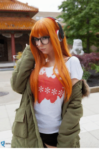 First real photo of my Futaba Sakura From Persona 5 by Atlus USA, thanks to Melissa Lee (Edited by Ngo Photography )  at the smallest setting the headset ended up being too big for my head, so I'm going to have to make adjustment to be able to wear it back like she does! Also couldn't throw down for her licensed AKGs but thought these were great and affordable!   this costume is crazy comfortable and I love it :D: iddle First real photo of my Futaba Sakura From Persona 5 by Atlus USA, thanks to Melissa Lee (Edited by Ngo Photography )  at the smallest setting the headset ended up being too big for my head, so I'm going to have to make adjustment to be able to wear it back like she does! Also couldn't throw down for her licensed AKGs but thought these were great and affordable!   this costume is crazy comfortable and I love it :D