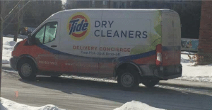 Food, Free, and Ide: ide CLEANERS  DELIVERY CONCIERGE  Free Pick-Up & Drop-off  952-651-5703 February 12, 2018 - Tide unveils it's new food delivery trucks