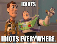 everywhere: IDIOTS  IDIOTS EVERYWHERE  qulckmeme com