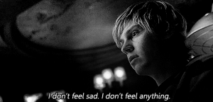 https://iglovequotes.net/: Idon't feel sad. I don't feel anything. https://iglovequotes.net/