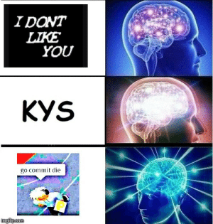 You, Kys, and  Die: IDONT  LTKE  YOU  KYS  go commit die gO CoMiTt DiE