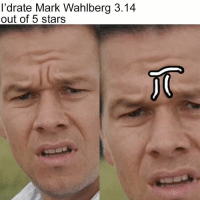 It's irrational, but he's such a cutie pi 🤓 (Image via @reddit): I'drate Mark Wahlberg 3.14  out of 5 stars It's irrational, but he's such a cutie pi 🤓 (Image via @reddit)