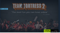 "team fortress: IE N LIBRARY  TEAM FORTRESS 2  ""The most fun you can have online  PC Gamer  75%  Free to Play"