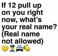 Fake, Memes, and Wshh: If 12 pull up  on you right  now, what's  your real name?  (Real name  not allowed) What's your fake name? 🤔😂👇 WSHH