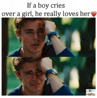Crying: If a boy cries  over a girl, he really loves her  PHOTOS