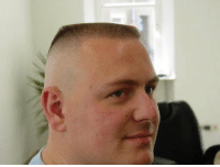 Funny, Haircut, and Haircuts: If a cop wit this haircut pulls you over you have a 100% chance of getting a ticket