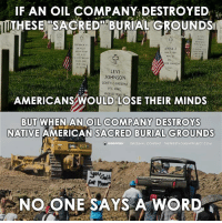 #RestoreHumanity #HonorTheTreaties #IdleNoMore #NoDAPL: IF AN OIL COMPANY DESTROYED  THESE SACRED BURIAL GROUNDS  MANNINr,  RECERCE SC  ANNA J  MAR 21368  TRE  ON JoHNSON  LEVI  JOHNSON  SOUTH CAROLINA  PFC OMC,  WORLD w  AMERICANS WOULD LOSE THEIR MINDS  BUT WHEN AN OIL COMPANY DESTROYS  NATIVE AMERICAN SACRED BURIAL GROUNDS  i ano news  ORIGINAL  CONTENT THE FREETHouGHTPR JECT COM  CAL  NO ONE SAYS A WORD #RestoreHumanity #HonorTheTreaties #IdleNoMore #NoDAPL