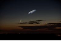 Earth, Houston, and Image: If Andromeda were brighter, this is how it would look in our night sky.Distance to Earth: 2.537 million light years.(Image credit: Tom Buckley-Houston)