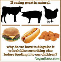"Animals, Apparently, and Bad: If eating meat is natural  why do we have to disguise it  to look like something else  before feeding it to our children?  VeganStreet.com <p><a href=""http://oreoandmusic.tumblr.com/post/108768431713/twisted-romance-black-roses"" class=""tumblr_blog"">oreoandmusic</a>:</p><blockquote><p><a href=""http://twisted-romance-black-roses.tumblr.com/post/108764122915/proudblackconservative-pinkaminadianepie0011"" class=""tumblr_blog"">twisted-romance-black-roses</a>:</p>  <blockquote><p><a href=""http://proudblackconservative.tumblr.com/post/108763658804/pinkaminadianepie0011-proudblackconservative"" class=""tumblr_blog"">proudblackconservative</a>:</p>  <blockquote><p><a href=""http://pinkaminadianepie0011.tumblr.com/post/108762571172/proudblackconservative-redbloodedamerica"" class=""tumblr_blog"">pinkaminadianepie0011</a>:</p>  <blockquote><p><a class=""tumblr_blog"" href=""http://proudblackconservative.tumblr.com/post/108760504304/redbloodedamerica-runningrepublican"">proudblackconservative</a>:</p> <blockquote> <p><a class=""tumblr_blog"" href=""http://redbloodedamerica.tumblr.com/post/108746222478/runningrepublican-bresaysshit"">redbloodedamerica</a>:</p> <blockquote> <p><a class=""tumblr_blog"" href=""http://runningrepublican.tumblr.com/post/108744508297/bresaysshit-iracebarrels-carlvegandude"">runningrepublican</a>:</p> <blockquote> <p><a class=""tumblr_blog"" href=""http://bresaysshit.tumblr.com/post/108744397506/iracebarrels-carlvegandude-eating-meat-is"">bresaysshit</a>:</p> <blockquote> <p><a class=""tumblr_blog"" href=""http://iracebarrels.tumblr.com/post/108743719609/carlvegandude-eating-meat-is-the-dead-body-of"">iracebarrels</a>:</p> <blockquote> <p><a class=""tumblr_blog"" href=""http://carlvegandude.tumblr.com/post/102349649581/eating-meat-is-the-dead-body-of-someone-who-wanted"">carlvegandude</a>:</p> <blockquote> <p>Eating meat is the dead body of someone who wanted to live.</p> </blockquote> <p>Because meat is messy and you just posted three pictures of finger food? Even tofu dogs and burgers are served between buns. Like WOW big shocker there. Last time I ate a streak It wasn't served under a white cloth in hopes I wouldn't notice it was meat. Yeah sure kids eat more burgers, hotdogs and nuggets. They're also more tender and less expensive that ordering your 6 year old a T bone. </p> </blockquote> <p>because you don't eat the entire fucking cow?? why is this even a question.</p> </blockquote> <p>&gt;implying I wouldn't fucking eat a whole cow.</p> </blockquote> <p>""<em>Eating meat is the dead body of <strong>someone</strong> who wanted to live.</em>""</p> <p>How vegans apparently view animals…</p> <p><img alt="""" src=""https://78.media.tumblr.com/1fd175c565d14d3632d9ca86c532709d/tumblr_inline_nijefd2EoN1r1jtxd.gif""/></p> </blockquote> <p>Spoken by the same kind of people who generally support abortion. Talk about mixed up priorities.</p> </blockquote> <p>yeah, i support abortion, whats wrong with abortion, it isnt a human until after about 5 months, so it is only a cell until then, not everyone who has abortions has to do it for bad reasons, they might be too poor to raise it and nor do they want to give it up, example one of millions</p></blockquote>  <p>&ldquo;It isn't human until after about five months&rdquo;. Um, what? I'm guessing you failed biology.</p></blockquote>  <p>^^^!!!</p></blockquote>  <p>So you're telling me that if a 14 year old girl, or any aged girl got raped she doesn't have the right to have an abortion?</p></blockquote> <p>I really love how the first thing people jump to to try to shut you down is these extreme examples. Short answer: no, she doesn't. Not  because she wasn't the victim of a grave injustice, she certainly was, but because murdering an innocent person would be another grave injustice. That being said, I absolutely think that she should be cared for and counseled at a crisis pregnancy center or something of that nature, and that every precaution is taken to ensure her health as well as the baby's. This includes early delivery, if necessary. The rapist should also be prosecuted to the fullest extent of the law. And every endeavor should be made to find a safe home for the child, should the girl be unable or unwilling to to raise him or her. The rape would have been a horrific experience, do you really think going through the arduous process of abortion would change that? </p>"
