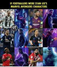 This 😍😍 @azrorganization: IF FOOTBALLERS WERE STAN LEE'S  MARVEL AVENGERS CHARACTERS  1  Jeep  Rakuten  ORGANIZATION  Emirates  0  О-@AZRORGANIZATION This 😍😍 @azrorganization