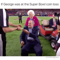 They should've done inky dink or choose you costanzagrams: If George was at the Super Bowl coin toss  @costanzagrams They should've done inky dink or choose you costanzagrams