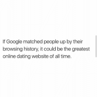 dating website history