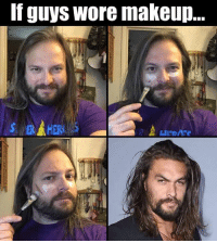 Dank, Halloween, and Makeup: If guys wore makeup.. Halloween disguise   by Mark Knapik
