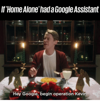 Macaulay Culkin is Home Alone AGAIN in the new Google Assistant ad 😂🙌: If Home Alone'hada Google Assistant  S REQUIRE P  Hey Google, begin operation Kevin Macaulay Culkin is Home Alone AGAIN in the new Google Assistant ad 😂🙌