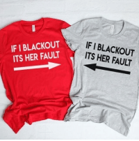 Click, Funny, and Memes: IF I BLACKOUT  ITS HER FAULT  IF I BLACKOUT  ITS HER FAULT TAG YOUR BLACKOUT BESTIE 👯‍♀️🍷 😵@mouthymerch Holiday Sale Happening NOW 🙌🏼🔥 ⏰ Click the link in their bio to shop! ⛄️ 🖤@mouthymerch @mouthymerch @mouthymerch