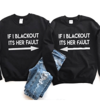 Click, Funny, and Memes: IF I BLACKOUT  ITS HER FAULT  IF I BLACKOUT  ITS HER FAULT 👉🏼 SWIPE LEFT! @mouthymerch TAG YOUR BLACKOUT BESTIE 👯‍♀️🍷 😵@mouthymerch Click the link in their bio to shop! 💯 Use code SARCASM for 15% off your order @mouthymerch @mouthymerch @mouthymerch