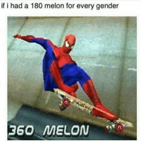 Memes, Skateboarding, and SpiderMan: if i had a 180 melon for every gender  360 MELON I don't skate but I know a lot of skateboard tricks thanks to le @tonyhawk games- And this meme is fuqin hillhairyass😂💯 Stolen from @i.vape.and.meme memes dankmemes spiderman skating gamer skateboard kek genderfluid lmao triggered