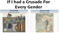 If I had a Crusade For  Every Gender  First Crusade  Second Crusade  Part of the Crusades  Part of the Crusades Go like Edgy Memes and Fashy Dreams 2: The Führer's Body Double and Obersturmführer Hans: Milo Gets Easy Baked