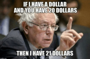 IF IHAVE A DOLLAR  AND YOU HAVE 20 DOLLARS  THEN I HAVE 21 DOLLARS  englip.com Feel it