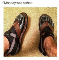 If Monday was a shoe I get it... I think 🤔 - dank memes cute summer blur sun happy fun dog hair beach hot cool fashion friends smile follow4follow like4like instamood family nofilter amazing style love photooftheday lol comedy funny
