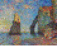 If Monet was into crochet this could of happened: If Monet was into crochet this could of happened