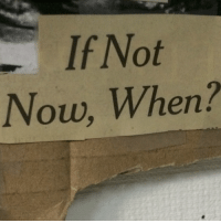 Now,  Not Now, and When: If Not  Now, When?