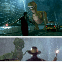 If rex from Toy Story was in Jurassic Park: If rex from Toy Story was in Jurassic Park