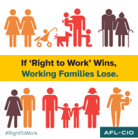 "Memes, 🤖, and Afl: If ""Right to Work"" Wins,  Working Families Lose.  AFL-CIO"