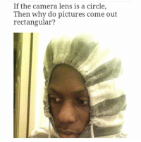 🤔🤔🤔🤔: If the camera lens is a circle,  Then why do pictures come out  rectangular? 🤔🤔🤔🤔