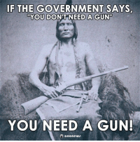 Guns, Memes, and Government: IF THE GOVERNMENT SAYS,  YOU DON'T NEED A GUNT  YOU NEED A GUN!  anonews ~ Tina.
