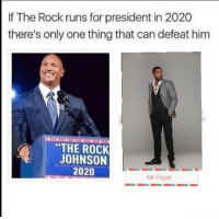 "Memes, The Rock, and Http: If The Rock runs for president in 2020  there's only one thing that can defeat hinm  ""THE ROCK  JOHNSON  2020  Mr Paper <p>The rock for president via /r/memes <a href=""http://ift.tt/2EEV3ca"">http://ift.tt/2EEV3ca</a></p>"