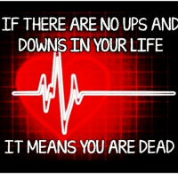 Maybe 2016 wasn't that bad...? 🤔 (Comic via @bad_science_jokes): IF THERE ARE NO UPS AND  DOWNS IN YOUR LIFE  IT MEANS YOU ARE DEAD Maybe 2016 wasn't that bad...? 🤔 (Comic via @bad_science_jokes)