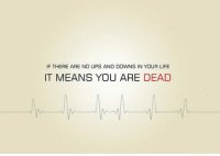IF THERE ARE NO UPS AND DOWNS IN YOUR LIFE  IT MEANS YOU ARE DEAD <p>No Ups And Downs.</p>