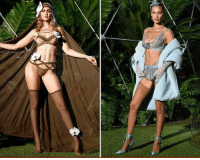 Memes, Rihanna, and Superhero: If there was a lingerie superhero league, Gigi and Bella Hadid would be the most dynamic duo, with their powers being ... getting you weak in the knees. Duh! tmz fenty gigihadid rihanna bellahadid model nyfw 📷Getty