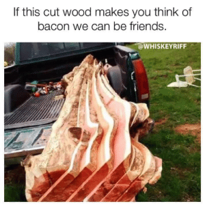 Friends, Memes, and Bacon: If this cut wood makes you think of  bacon we can be friends.  @WHISKEYRIFF DV6