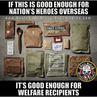 uid: IF THIS IS GOOD ENOUGH FOR  NATION'S HEROES OVERSEAS  w w w. UncleSam S M is g uid edCh ildr en. c o m  FIRST STRIKE  DICED PEARS  CRACKERS  Cst.  1775  DO NOT OVERFILL  IT'S GOOD ENOUGH FOR  WELFARE RECIPIENTS