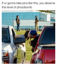 Dank, Photobomb, and 🤖: If ur gonna take pics like this, you deserve  this level of photobomb